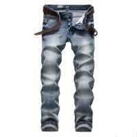 Włoski Styl Retro Design Mens Jeans Light Blue Kolor Szczupła Fit Przyciski Dżinsy Męskie Spodnie Jeansowe Marki DSEL Stretch Skinny Jeans