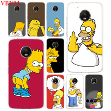 Funny Homer Simpson Silicone Patterned Case For Motorola G5 G5S G6 E4 E5 G7 Plus Moto G4 Play Art Customized Cover Cases