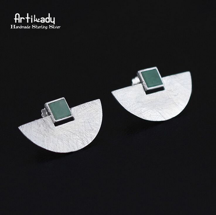 Artilady 925 sterling silver stud earrings delicate geometry natural stone earrings women jewelry for party gift privatization and firms performance in nigeria
