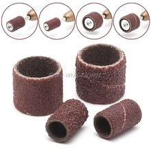 "100Pcs 1/2"" and 1/4"" Sanding Band Sleeves Drum Sandpaper Rubber 2 Mandrels Kit S08 Wholesale&DropShip(China)"