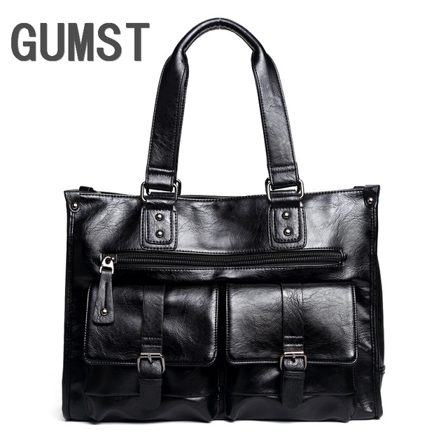 GUMST Designer Handbags High Quality Tote Bag Men Messenger Bags Business Man PU Leather Bags Men Shoulder Bag