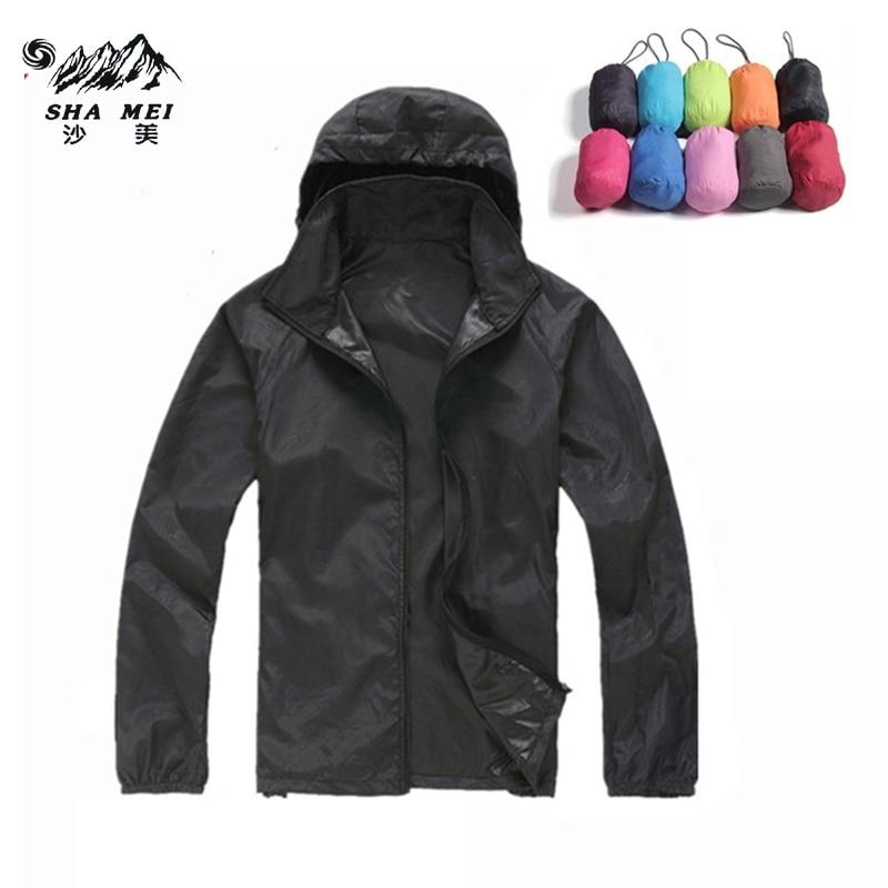 גברים נשים עור זכר נקבה מעיל יבש מהיר טיול קמפינג מעילים 2017 חדש Waterproof- Sun- מגן בחוץ ספורט מעילים