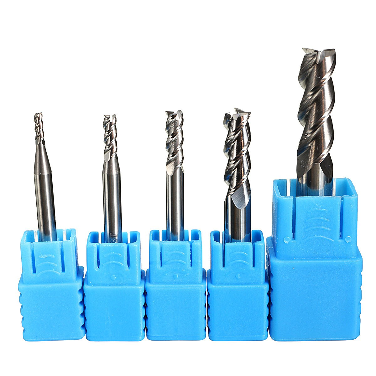 5Pcs/set 3 Flute 2 3 4 6 8mm Aluminium End Mill Cutter Tungsten Carbide Printed Cutter For CNC Milling Cutter yft 5pcs set tungsten carbide milling cutter 3 4 5 6 8mm 4 flute end mills cnc router bit for cutting metal tools