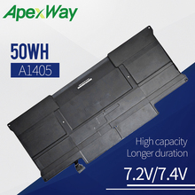 50WH Laptop battery for APPLE  A1377 A1405 A1496 A1369 MacBook Air 13 Li-Polymer MC504 MD231 MD232 MC965 MC966 [special price] new original laptop battery for apple macbook pro 13 a1369 a1466 a1405 a1377 mc503 mc504 free shipping