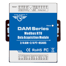 Купить с кэшбэком Industrial Grade Umts RTU for Industrial Energy Monitor & Flow Meter AIN+Temperature Modbus RTU Remote IO