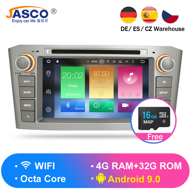 Android 8.0 9.0 9.1 RAM 4G Have Stock DVD Stereo Multimedia For Toyota Avensis/T25 2003-2008 Radio GPS Navigation Video