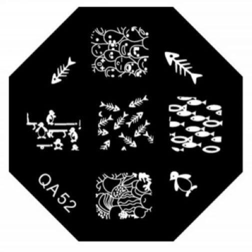 Serie QA plantilla plantilla de imprenta reutilizables placas de imagen del clav