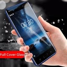 9H закаленное стекло для nokia 6 8 7 5 3 Полное покрытие стекло для nokia 5 Защита экрана 2.5D стекло пленки для nokia 8 защитный чехол