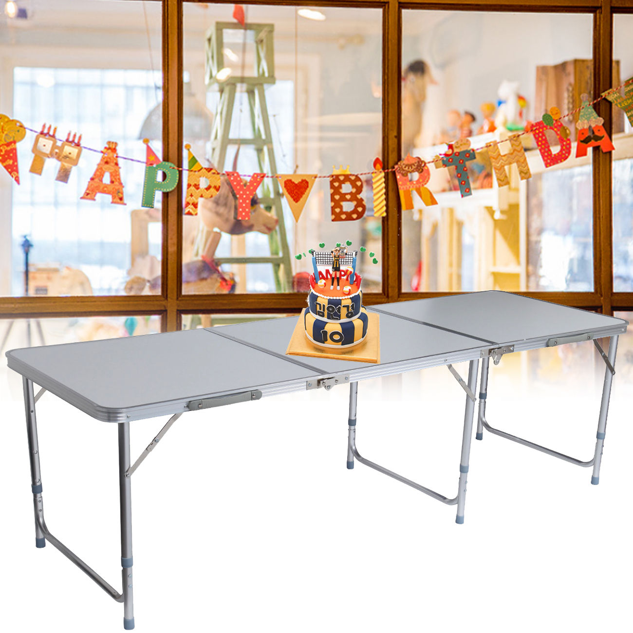 Table de camping de jardin pliable pliante en aluminium ...