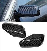 ARBON FIBER SIDE MIRROR COVER CAPS OVERLAY FOR 2004 2005 2006 2007 2008 BMW E60 E61 5 SERIES
