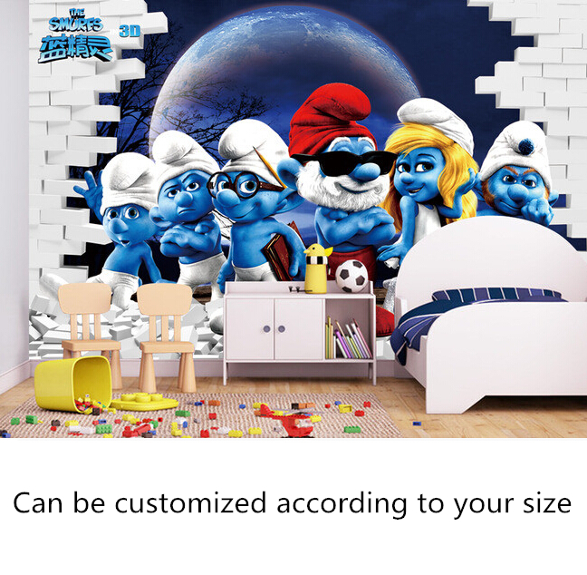 Custom papel DE parede infantil, 3 d cartoon murals for children room to the boys and girls bedroom setting wall wallpaper custom baby wallpaper snow white and the seven dwarfs bedroom for the children s room mural backdrop stereoscopic 3d