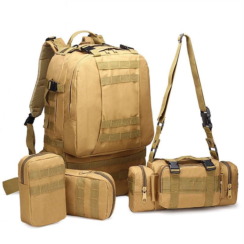 50L 대용량 배낭 위장 군사 배낭 학교 가방 청소년 노트북 노트북 여행 가방 Mochilas