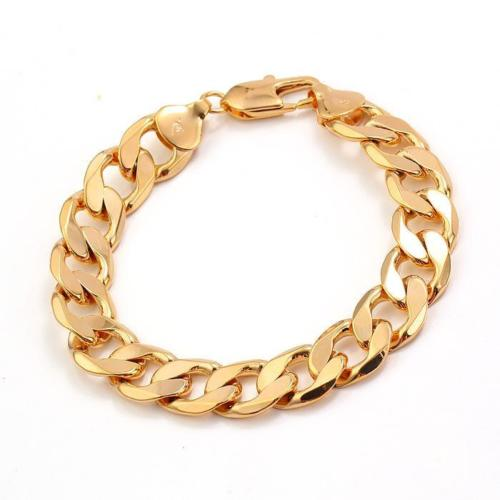 82fdbfeed4975 Solid 9CT Yellow GOLD GF Belcher Link Unisex BRACELET brand FREE SHIPPING  Unconditional Lifetime Replacement Guarantee-in Chain & Link Bracelets from  ...