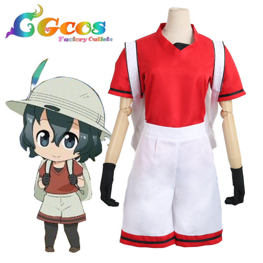 CGCOS Free Ship Cosplay Costume Kemono Friends Kaban with Bag and Hat Halloween Christmas Party Uniform Anime