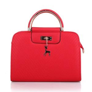 Image 2 - Модная сумка 2020 Новая женская кожаная сумка, вместительные сумки на плечо, повседневная сумка тоут, простые ручные сумки с верхними ручками, декор в виде оленя