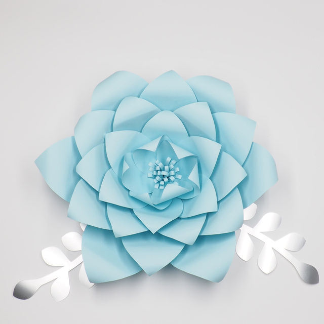 1piece flower2pcs leaves giant large paper flowers backdrop wall 1piece flower2pcs leaves giant large paper flowers backdrop wall decor wedding arch handcrafted flowers mightylinksfo