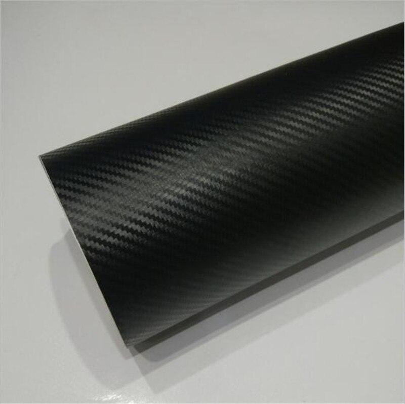152*28 M/Rouleau Nouveau style de voiture 3D fibre de carbone noir Vinyle papier d'emballage autocollant de décoration Feuilles de Film Avec Le Drain D'air