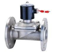 2W 400 40BF 304 stainless steel solenoid valve solenoid valve 220V flange DN40