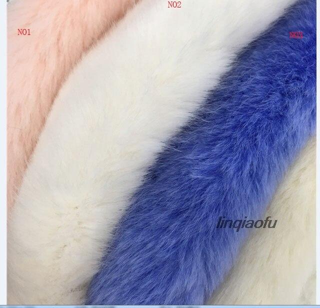Tissu en peluche épaissi en fausse laine Super doux imitation fourrure de lapin, 170*90 cm (une cour) un pcs