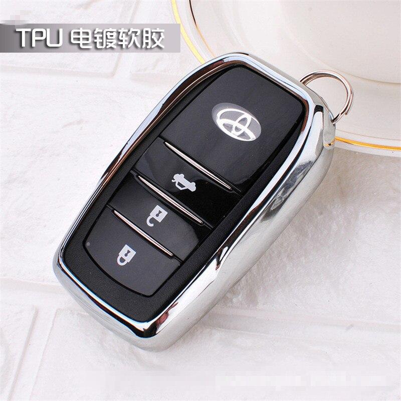 16 17 Car Key Case For Toyota Remote TPU Cover Camry Highlander Prado Crown Land Cruiser Prius Vitz Smart Car Key Protect shell