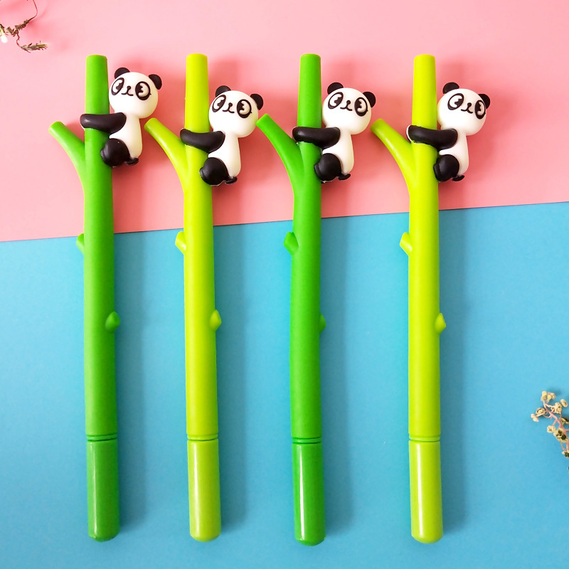 Panda Gel Pen 0.5mm Cute Bamboo Style Creative Pens For Kids Girls Gifts School Writing Supplies Korean Stationery Novelty Items In Many Styles