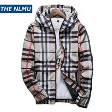 9ab518fc5d1 Striped Jackets Men Coat Windproof Hip Hop Casual Plaid Coat 2019 Spring  Jackets for Male Plus