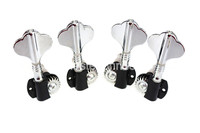 Chrome Electric Bass Half Sealed Tuning Pegs Tuners Machine Head For 4 5 Strings Electric Bass