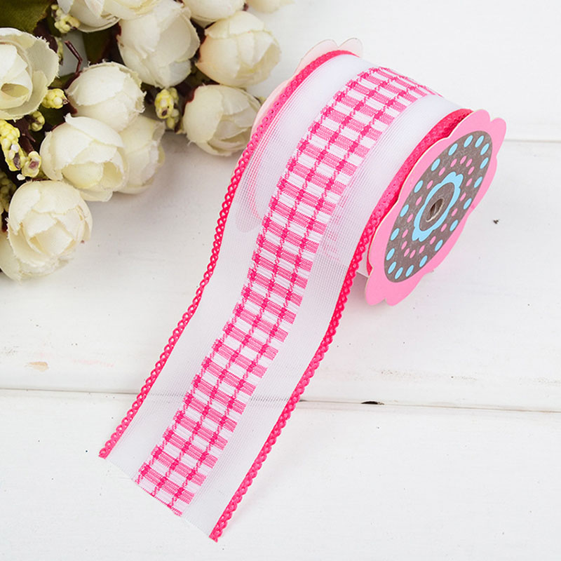 Ultrasonic Embossed Ribbons Clothing Decoration Handmade DIY Crafts Materials Accessories Home Decoration Ribbon Edge Belt in Webbing from Home Garden