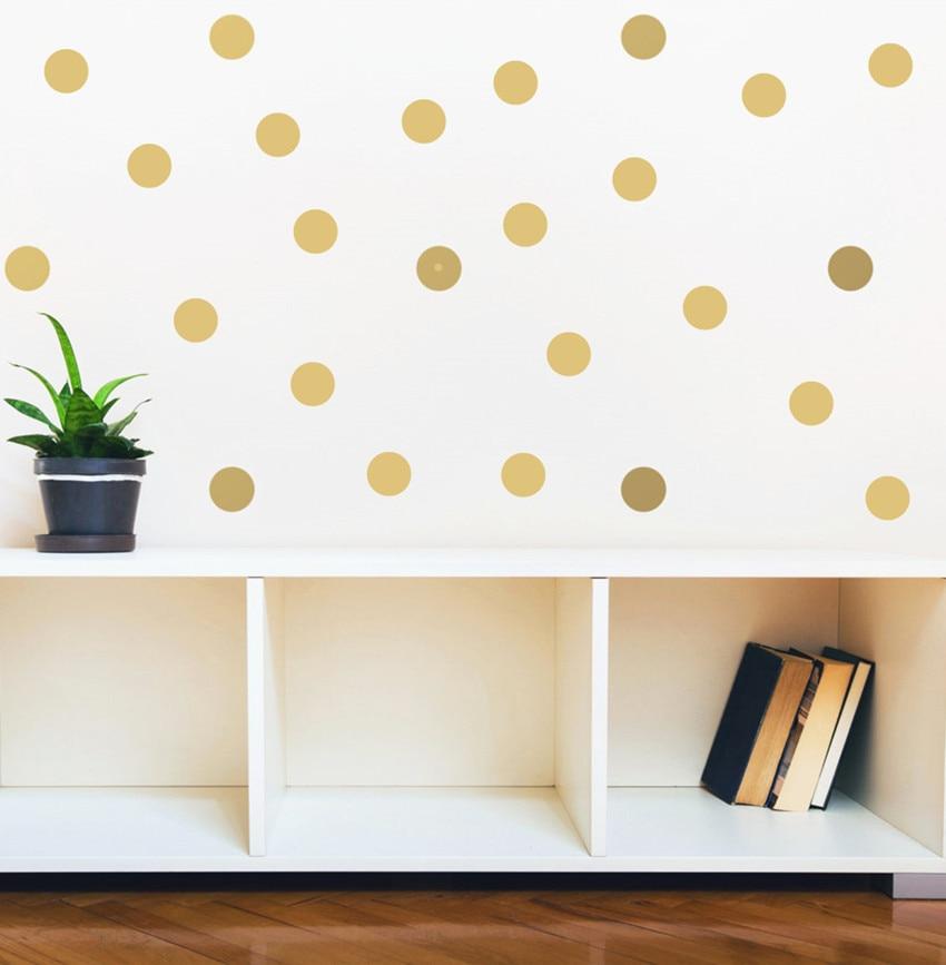 70 copë-4cm i heqshëm Gold Polka Dots mur vinyl Decals, Qarqet - Dekor në shtëpi - Foto 2