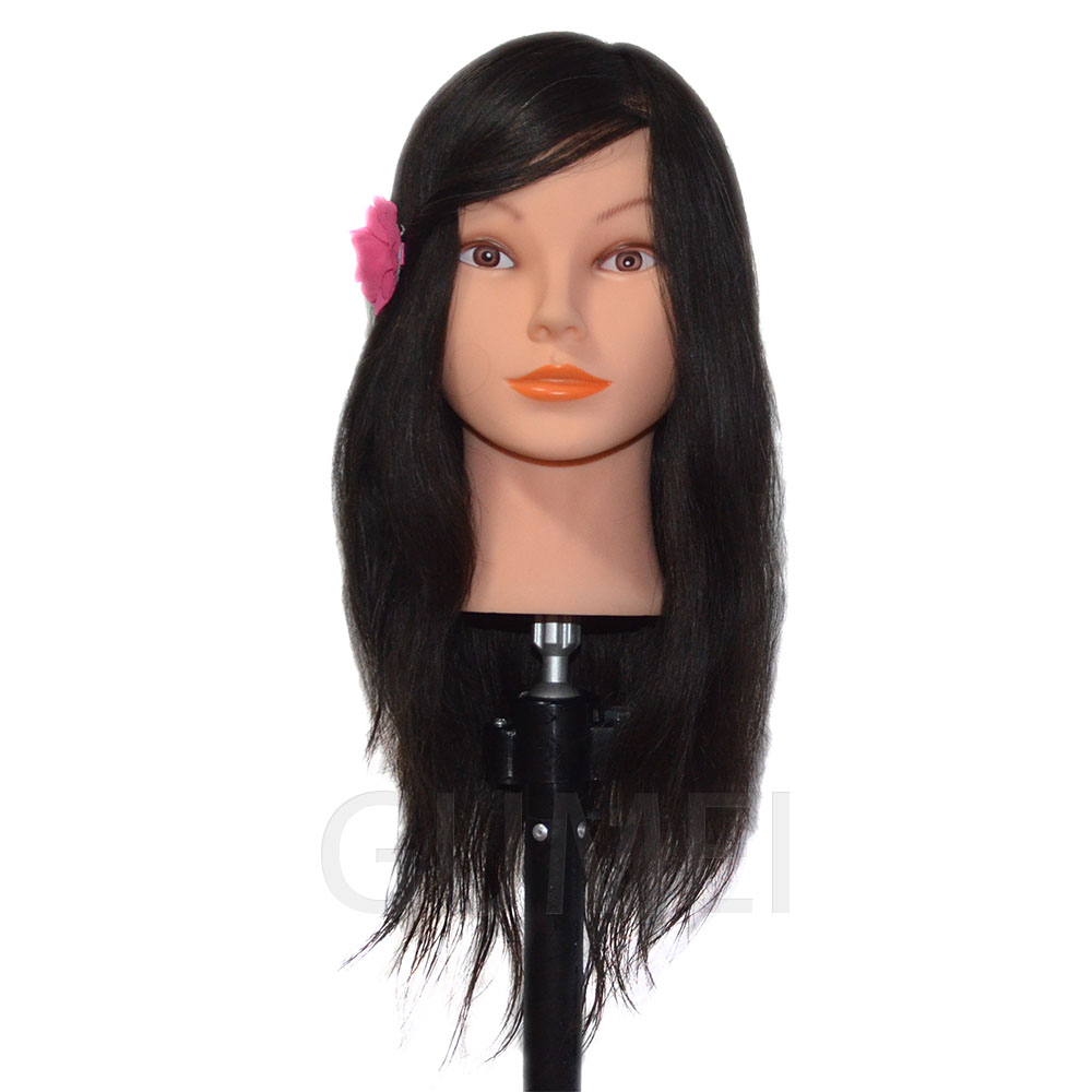 16inch Mannequin Head With Human Hair Training Head Manequim Professional Styling Head Wig Head Head Dolls For Hairdressers