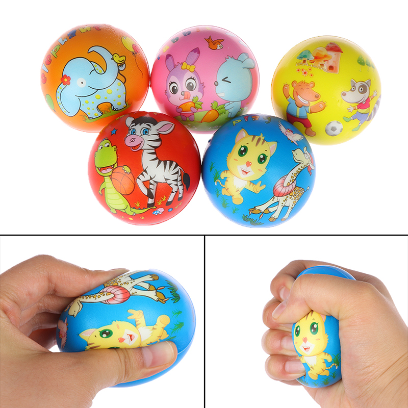 1Pc Stress Relief Vent Ball Animals Squeeze Foam Ball Hand Relief Interactive Rubber Balls For Kids Toys