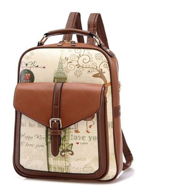 Backpack For School Girl Fashion Women Backpack College Style School Backpacks Teenage Girls Women Pu Leather Backpack Mochila