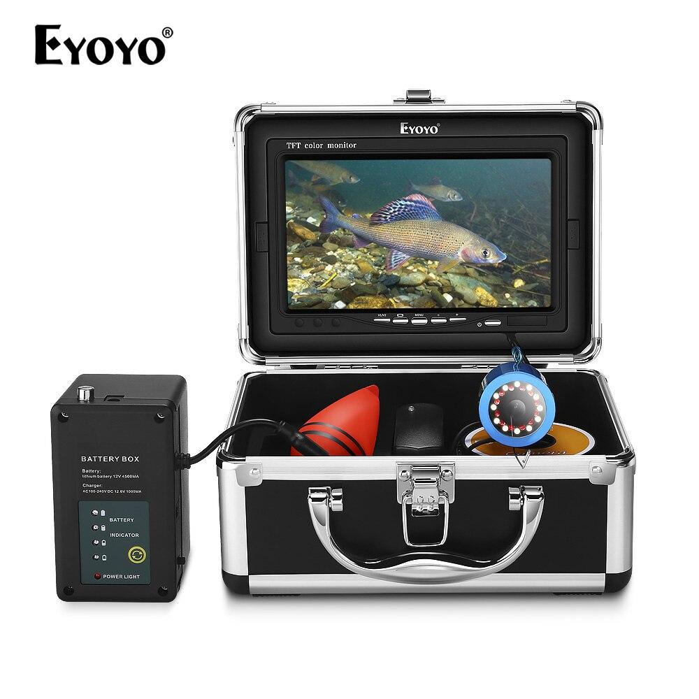 Eyoyo 30M Underwater Fishing Camera Video Fish Finder 12PCS White LED+12PCS Infrared LED Night Vision EYOYO
