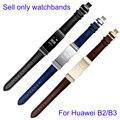 Для Huawei B2 B3 Натуральная Кожа Ремешки Для Наручных Часов 15 мм 16 мм Замена Кожаный Ремешок Smart Watch Браслет