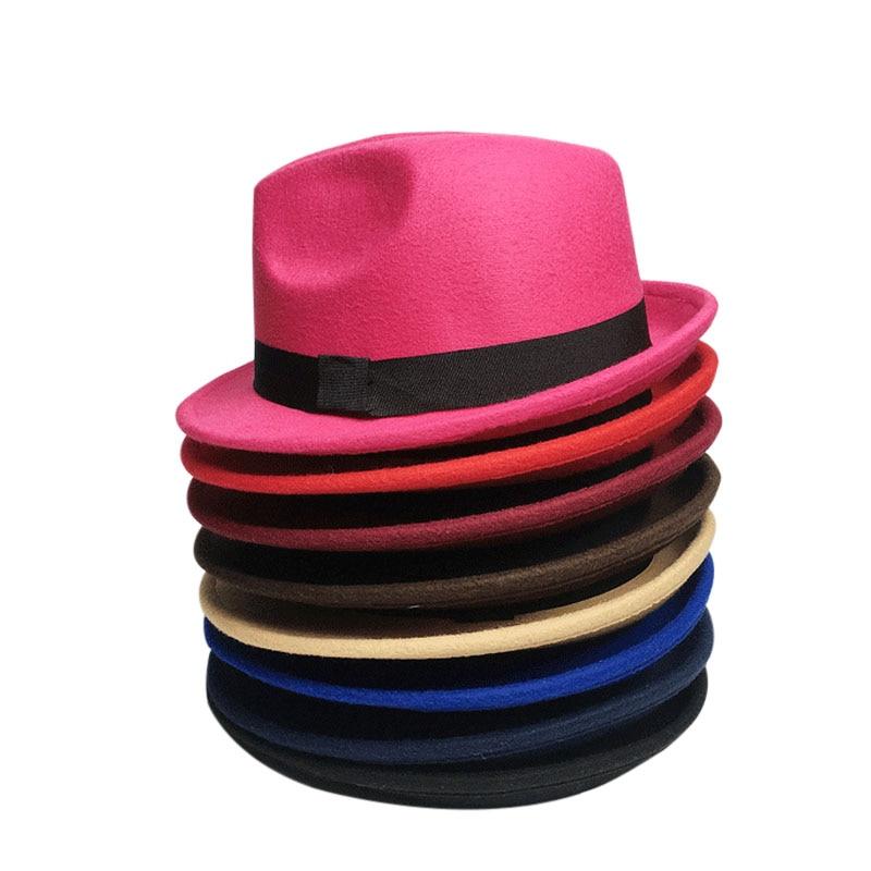 Anak-anak Wol Merasa Snap Topi Penuh Trilby Anak Laki-laki Vintage - Aksesori pakaian - Foto 6