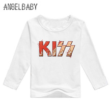 Boys and Girls Kiss Rock Band Print T shirt