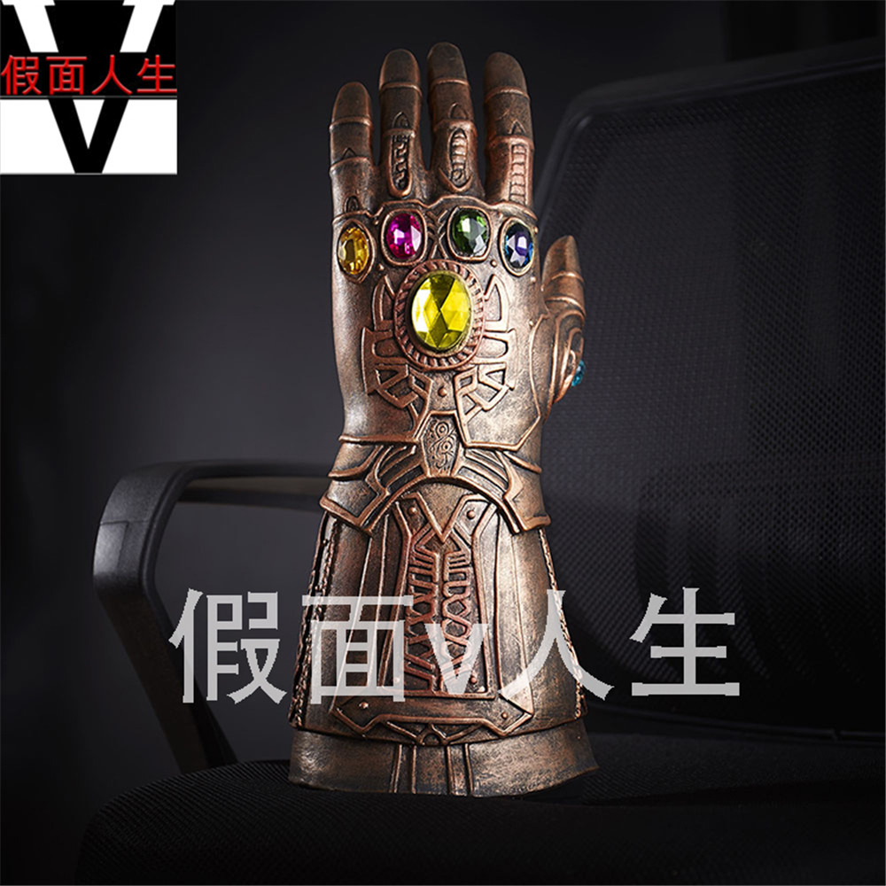 CGCOS Anime Cosplay Prop Game Cos Avengers: Infinity War Thanos Infinity Gauntlet Glove Halloween Christmas Party