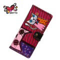 Purchase BRITTO PU Wallets For Money Card Women Soft Long Handmade Purse casual daily Graffiti cultch money clip