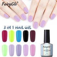 FairyGlo 10ML ongle Gel mat une étape UV vernis à ongles Gel LED longue durée Gel vernis hybride tremper Semi Perment Gel vernis chanceux