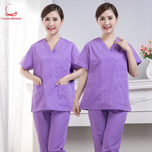 Doctors and nurses wear work clothes, surgical clothes, women's long sleeve brush hand clothes, isolation suits