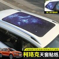 For SKODA KAROQ 2018 ,Car panorama sunroof starry blue sticker, spiderman shape placard Car styling ,Car Accessories