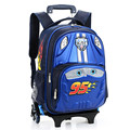 Kids Trolley School bags Boys Children  Backpack 6 Wheels Rolling Backpacks Removable Children Book Bag Girls Cartoons Schoolbag