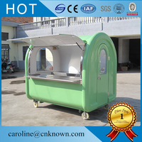 280D black color white inside with shelf 3 sinks for usa standard with logo food cart CFR price