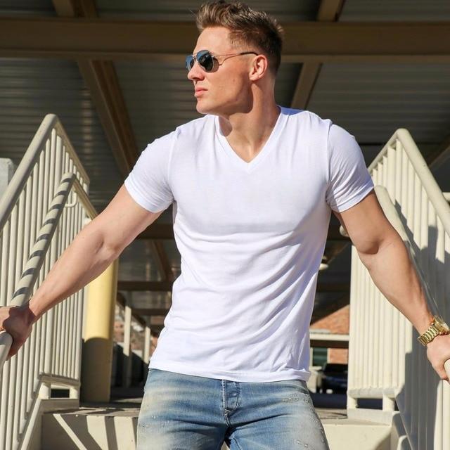 2018 MRMT Brand Clothing 10 colors V neck Men's T Shirt Men Fashion Tshirts Fitness Casual For Male T-shirt S-5XL Free Shipping 2