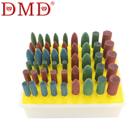 DMD 50pcs/set Rubber Grinding Head Set Use for Polished Jade Agate Carving Tools Emerald Polishing Red and Green Abrasive Tools