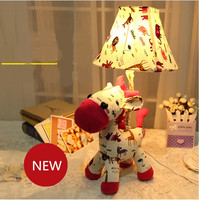 modern fashion lovely romantic fabric horse led e14 table lamp for children's room novel creative kid's present desk lamp 1977