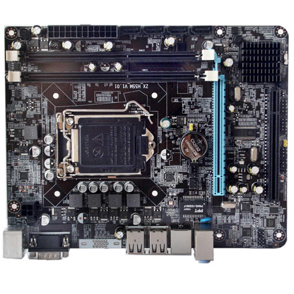 P55-1156 Bagian CPU Gaming LGA 1156 Papan Utama Kinerja Tinggi Desktop DDR3 Memori LGA1156 Dukungan I3 I5 I7 Xeon Series