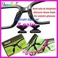 5 pares T2000 Heighten silicona antideslizante almohadillas de nariz etiqueta engomada del plástico acetato gafas de sol 2.0 / 2.5 / 2.8 mm envío gratis