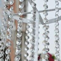 Livraison gratuite 33 FT Crystal Clear Acrylique Perle Garland Lustre Suspendu Décoration De Mariage