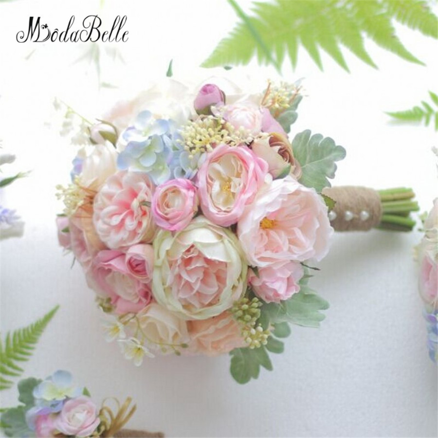 Average Cost Of Wedding Flowers 2014: Modabelle Artificial Pink Bridal Bouquet Rose Bride Real
